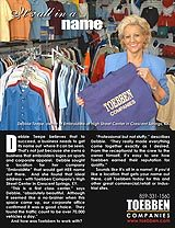 Rather rent retail space? Debbie Teepe of Embroid Me chose to locate her business in Toebben's High Street Center in Crescent Springs, KY.