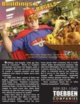 "Keystone Plaza is home to the infamous ""Bagel Man"", click on the ad to read more!"