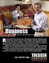 Click on the ad above to find out how being at the Crestville Shopping Center is good business for LaRosa's Pizza.