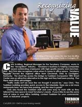 Chris Schilling of the TerryBerry Company moved his office from Cincinnati to Toebben's Fifth Street Center. Click on image to read more.